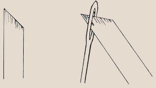 Рис. 1. Продевание ленты в иглу