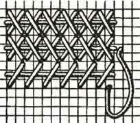 Удлиненный шов крестиком