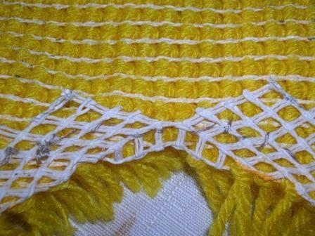 Ковровая вышивка. Обработка края