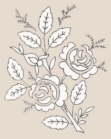 Схема для вышивки лентами