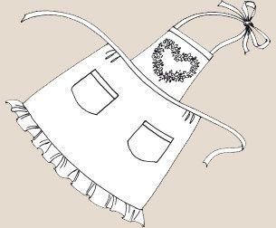 Вышивка лентами на одежде. Фартук С Сердечком Из Маргариток