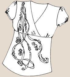 Блуза, украшенная лентами