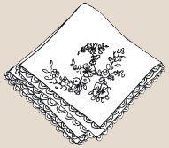 Вышивка лентами Носовой Платок С Вышитой Буквой В Виде Цветов