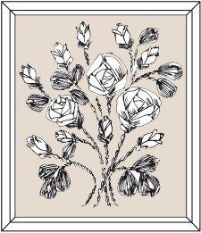 Картина «Розовый Куст»