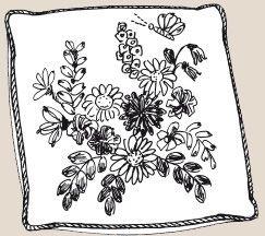 Подушка С Букетом Цветов.