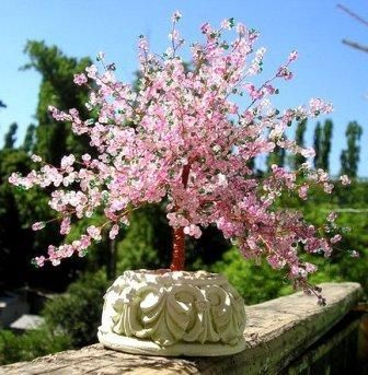 Мастре класс Цветущая сакура из бисера
