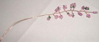 Цветущая сакура из бисера Шаг 4