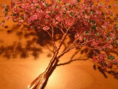 Цветущая сакура из бисера Шаг 7