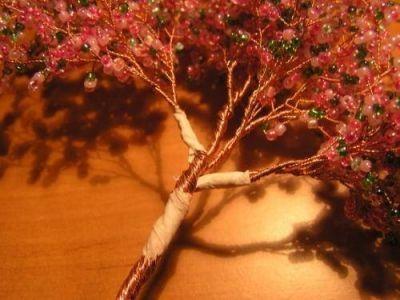 Цветущая сакура из бисера Шаг 9