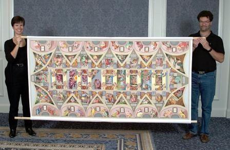 Женщине потребовалось 10 лет для создания вышитой крестом копии Сикстинской Капеллы