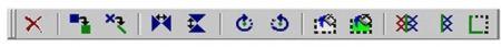 Панель инструментов «команды» (описание кнопок – слева направо)