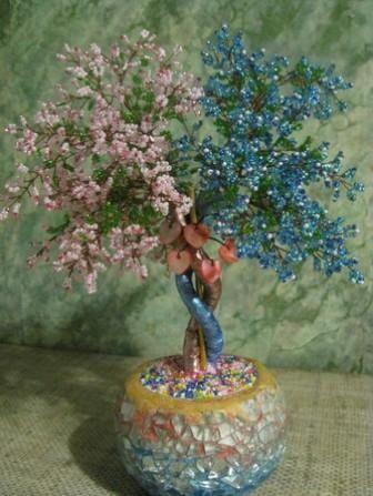 Мастер-класс: Дерево любви из бисера
