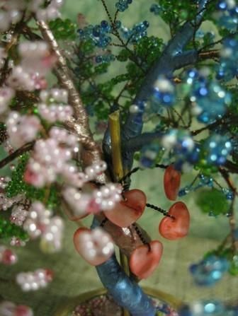 Дерево любви из бисера для вдохновения