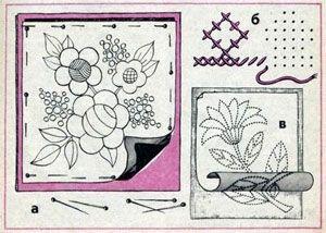 Перевод рисунка через копировальную бумагу