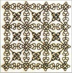 Вышивка Черным по белому
