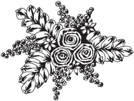 Рисунок 2. Объемная вышивка лентами