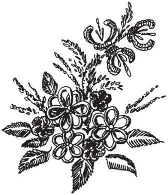 Рисунок 3. Бразильская объемная вышивка