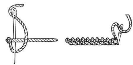 Рисунок 7. Вязаный краеобметочный шов