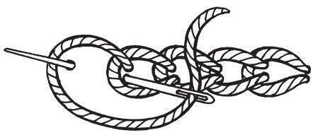Рисунок 12. Классический тамбурный шов, или шов «цепочка»