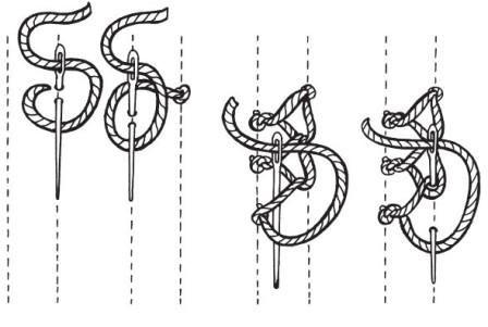 Рисунок 16. Шов «крестовидная цепочка»