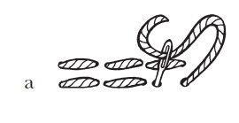 Рисунок 23. Шов «россыпь»: а) разделка шва «назад иголку»