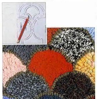 Узоры для лоскутных ковриков