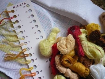 Шерстяные нитки для вышивки